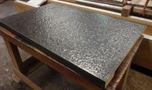 bronze countertop, patina finish bronze, hand hammered bronze