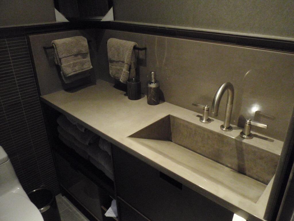 Modern Concrete Vanity, Engineered Concrete Top, Verdicrete Vanity