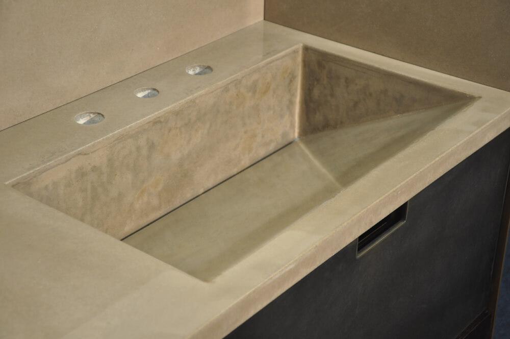 Modern Slant Style Concrete Sink Brooks Custom